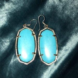 KS turquoise earrings